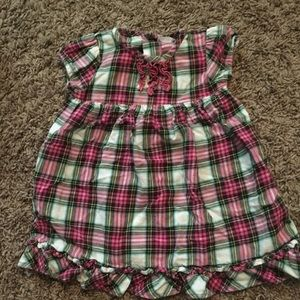 Other - Pink Plaid Baby Girls Dress with Ruffles